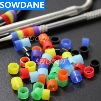 500 Pcs ( 10 bags ) Autoclavable Universal Dental Silicone Instrument Color Code Ring Rings (Dia.5mm)