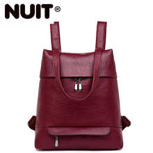 Women Leather Backpacks For Girls Sac A Dos Preppy Style School Bags Ladies Bagpack Vintage Travel Back Pack Rucksacks Girl women leather backpacks vintage preppy style schoolbag for teenage girl travel bags ladies backpacks mmochila mujer 2017 new