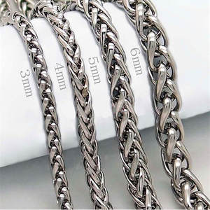 Chain Necklace Male Jewelry 316l-Stainless-Steel Men HNSP for 5MM/6MM Width