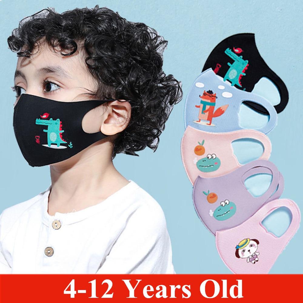 Summer Silk Cotton Boy Girl Kid Smoke Mask Reusable Children's Mouth Mask Face Mask Pollution-proof Filter Mask Travel