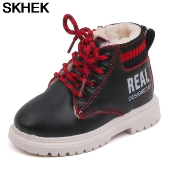 fashion 1pair winter warm waterproof snow boots comfortable children shoes kid boy girl non slip cotton padde boots SKHEK Children Boots Winter Super Warm Shoes Flats Kids Baby Soft Long Plush Ankle Boot Boy Girl Quality Non Slip Snow Boots