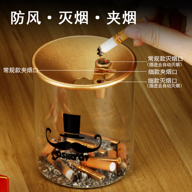 Glass ashtray with lid 2