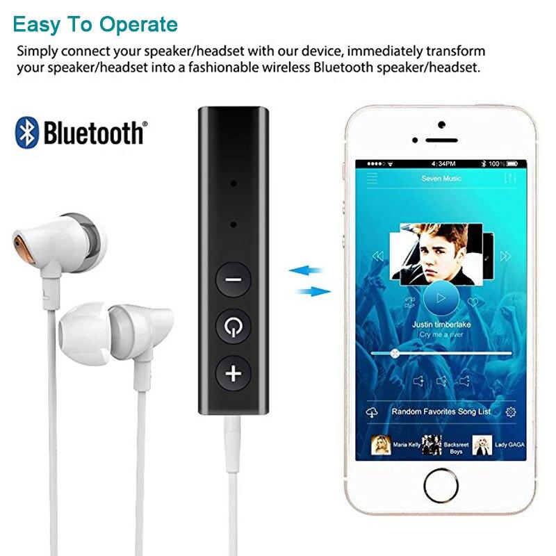 5,0 aptX Bluetooth приемник аудио AUX 3,5 мм разъем стерео громкой связи Автомобильный Комплект передатчик музыка беспроводной адаптер A2DP для наушник...