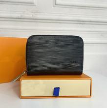 L bolsa para homem e mulher, v bolsa carteira para cartões e documentos litlle mini unisex pequena bolsa de cartão
