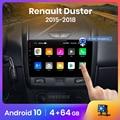 Автомагнитола AWESAFE PX9 для Dacia/Renault Duster 2015-2018, мультимедийный видеоплеер с GPS, 2din, Android 10,0, 2 ГБ + 32 ГБ