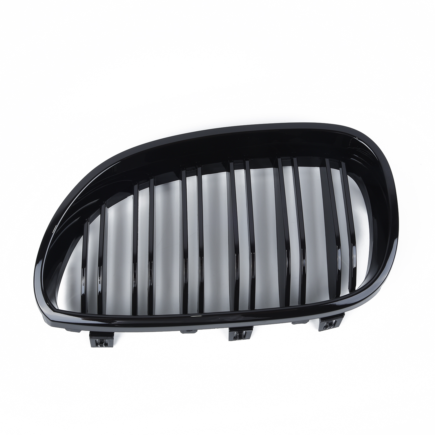 Front Kidney Grill 2PCS Replacement Fit For <font><b>BMW</b></font> <font><b>E60</b></font> E61 <font><b>5</b></font> <font><b>SERIES</b></font> 2003-2010 Exterior Parts Double Line Grille image