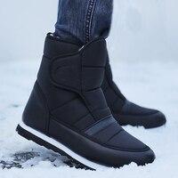 Men boots 2019 warm plush winter shoes fashion waterproof ankle boots non slip men winter snow boots size 38 45