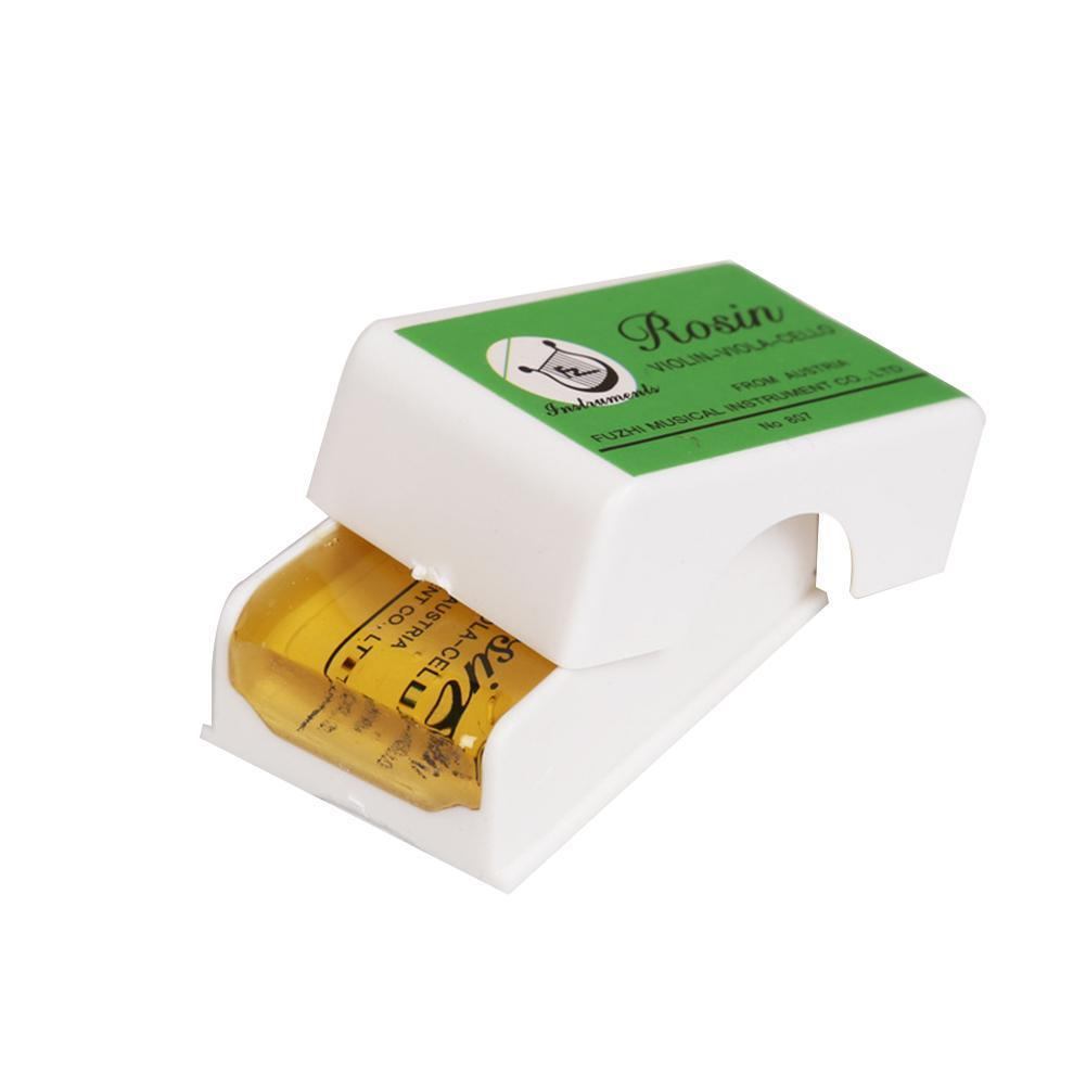 Transparent Yellow Rosin Resin Colophony Rectangle Cello Accessories Bowed Erhu Viola 45X28X16mm Violin String Box With O7H3