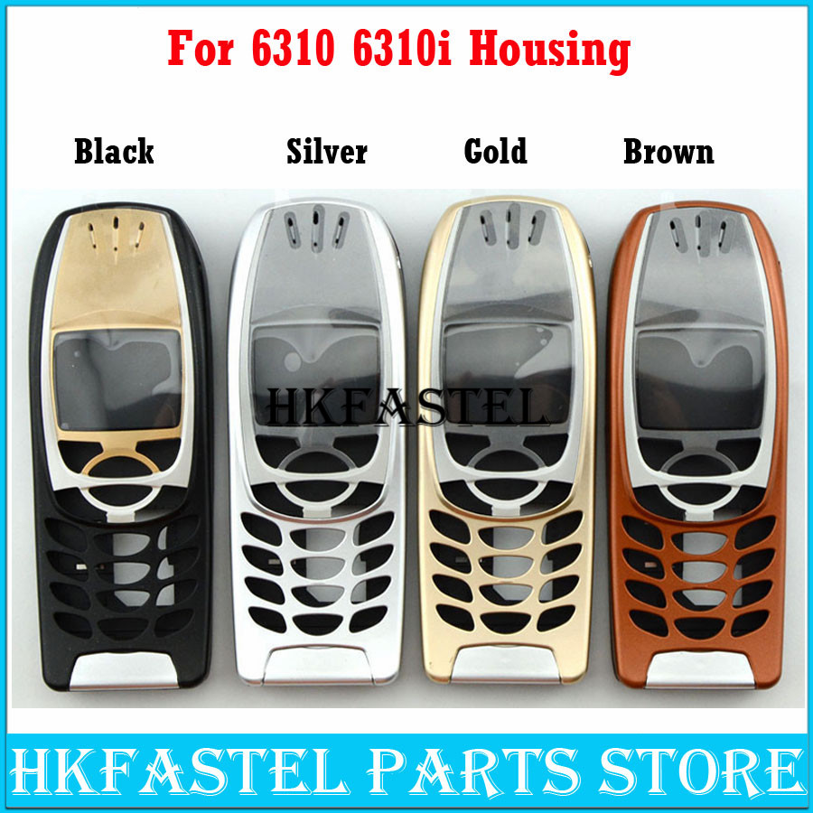 Brandnew For <font><b>Nokia</b></font> 6310 <font><b>6310i</b></font> Mobile Phone 5A High Quality Housing Cover Case ( No Keypad ) Black Silver Gold Brown Free Tool image