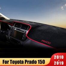 Коврик для приборной панели автомобиля, Солнцезащитный коврик, инструмент, панели, ковры для Toyota Land Cruiser Prado 150 FJ150 2010-2019 2020, аксессуары