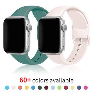 Soft Silicone Band for Apple Watch Series 6 SE 5 4 3 2 1 38MM 42MM Rubber Watchband Strap for iWatch 4/5 40MM 44MM