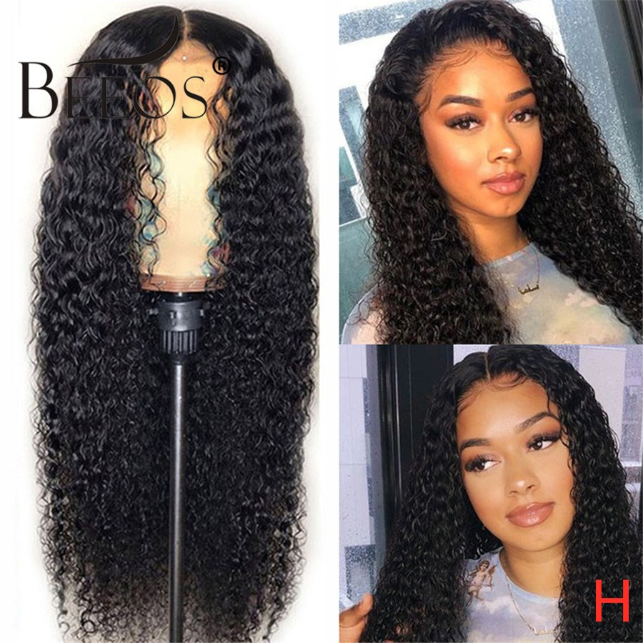 Beeos 180% 13x6 HD Transparent Lace Curly Wig 1b27 Ombre Color Lace Front Human Hair Wigs For Women Brazilian Remy Pre Plucked