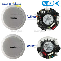 Powered WIFI Active and Passive Speaker Subwoofer Coaxial Tweeter Horn Wired Ceiling Speaker In Pair For Home, Hotel Use