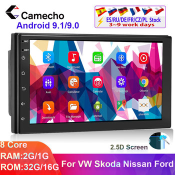Camecho 2din Car radio Multimedia Player Android 9.1Universal auto Stereo GPS Autoradio For Volkswagen Nissan Hyundai Kia toyota image