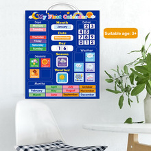 Kids Magnetic Calendar Time Month Date Day Season Weather Learning Chart Board Early Educational Toy for Boys Girls Home School