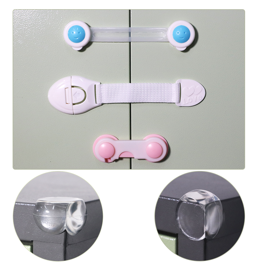 50pcs/set Children's Cabinet Lock Baby Safety Protection Child Safety Latches Drawers Cupboards Childproof Product