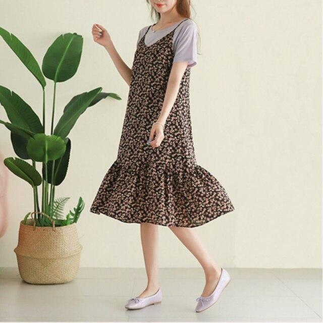 Oversized Loose Women Sleeveless Dress 2020 Summer Print Female Dress Hollow Out Suspender Dress Bohemian Brand Robe KE501 2