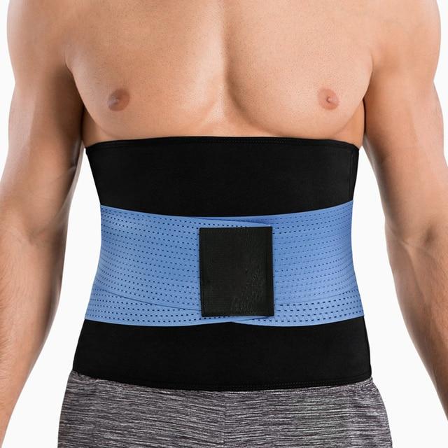 Mens Thermo Neoprene Body Shaper Waist Trainer Belts Slimming Corset Waist Support Sweat Underwear Strap Modeling Shapewear Sets