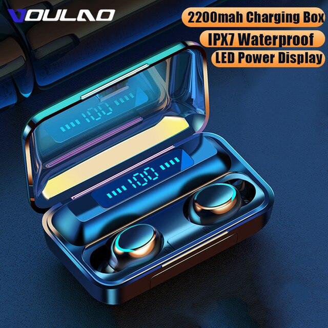 Wireless Headphones TWS Bluetooth 5.0 Wireless Earphones 2200mAh Charging Box With Microphone Sport Waterproof Headsets Earbuds 1