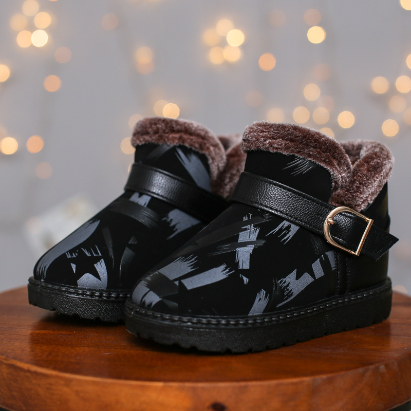 Black Toddler Boots | Boots Baby Girls Kids Boots Black Winter Warm Toddler Girl Boys Shoes 2019 New Year Christmas Snow Casual Plush Footwear Fashion