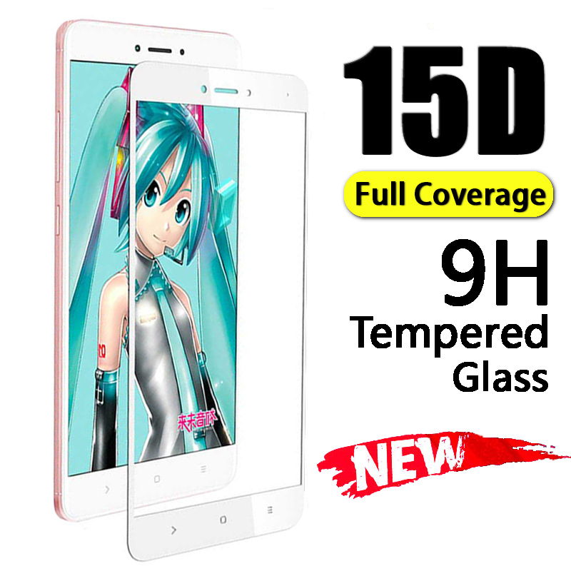 15D Tempered Protective Glass For Xiaomi Redmi 4X 6 6A 5A 5 Plus Pro Screen Protector Full Cover For Note 4X 5A 5 Pro Glass Film in Phone Screen Protectors from Cellphones Telecommunications