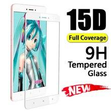 15D Tempered Protective Glass For Xiaomi Redmi 4X 6 6A 5A 5 Plus Pro Screen Protector Full Cover For Note 4X 5A 5 Pro Glass Film защитное стекло тор seller 5d для xiaomi redmi 4x 5a 6a 5 plus 6 pro s17 прозрачный