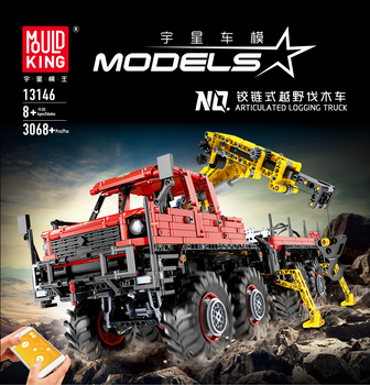 цена на Lepining City Technic MOC Articulated Logging Trucks Car Construction Model Building Blocks RC APP Bricks Toys For Children Gift