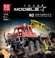 Lepining City Technic MOC Articulated Logging Trucks Car Construction Model Building Blocks RC APP Bricks Toys For Children Gift