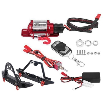 Metal Front Bumper Winch Rear Spare Tire Bracket with Light for 1/10 RC Crawler Car TRX4 Axial SCX10 90046 TF2 CC01 KM2