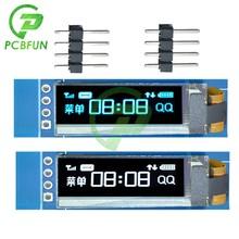 Diymore – Module pilote IC SSD1306 pour Arduino, écran LCD OLED à 4 broches, 0.91 pouces 0.91 pouces 12832 128x32 bleu/blanc IIC I2C série bricolage