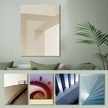 Canvas Painting Building Landscape Stairs Space Abstract Poster Print Pictures Wall Art for Living Room Home Decor Drop Shipping wall art canvas painting stairs corridor space buildings abstract poster print pictures for living room home decor drop shipping
