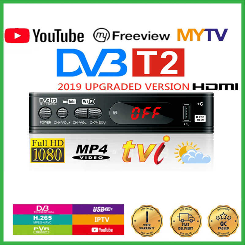 Full-HD1080P Dvb-t2 Sintonizzatore TV Box Dvb T2 Wifi Usb2.0 HDMI Ricevitore Tv Satellitare Tuner Dvbt2 Built-in Manuale Russo
