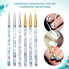3 teile/satz Nagel Pinsel Set Nail art Liner Pinsel Maniküre Pinsel Acryl UV Malerei Zeichnung Gel Stift für Nail art design Nagel Stift(China)
