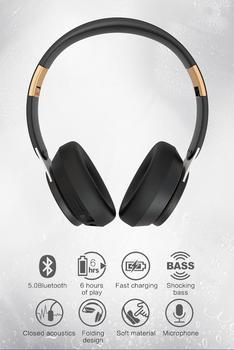 Headset Bluetooth headset Bluetooth 5.0 stereo card folding metal computer wireless headset headset headset headset фото