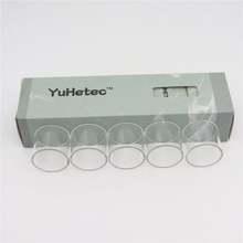 Oryginalny YUHETEC Intake Subohm 3ML szklany zbiornik do Augvape wlot pojedyncza cewka RTA 2 5ml wlot daul cewka 4 2ml szklana rurka tanie tanio Kroplomierzem Butelki