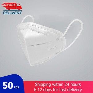 50 pçs ffp2 kn95 máscara facial 5 camada boca kn95mask anti máscaras de poeira à prova de poeira anti-nevoeiro máscara de filtro de proteção transporte rápido