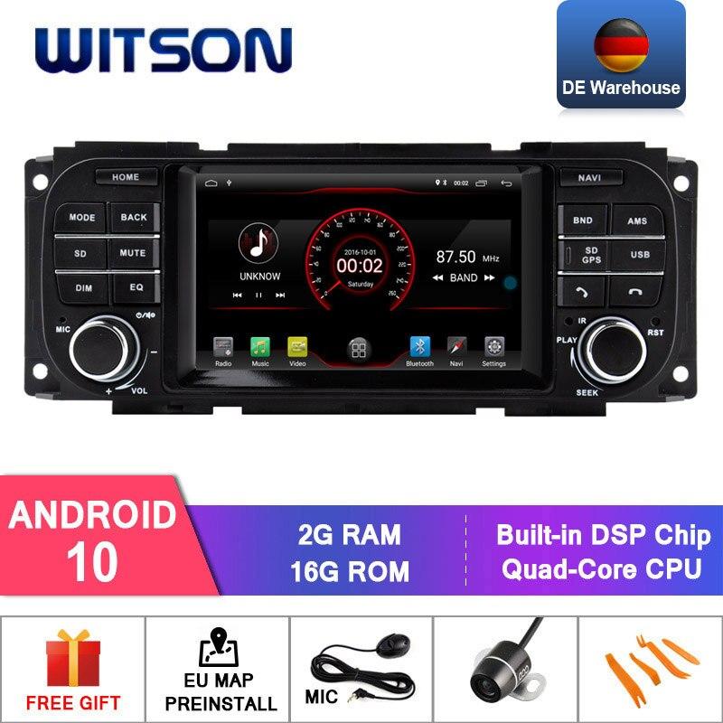 Автомобильная DVD-система WITSON Android 10,0 для CHRYSLER GRAND VOYAGER с gps авто стерео DAB/OBD/TPMS/DVR/Wifi/3G/4G опционально