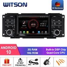 Sistema de dvd do carro de witson android 10.0 para chrysler grand voyager com dab/obd/tpms/dvr/wifi/3g/4g estéreo automático de gps opcional