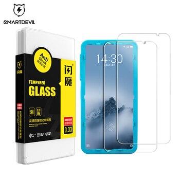 Перейти на Алиэкспресс и купить Защита экрана SmartDevil для Meizu 16 th plus 16X 16Spro note 8 9 Закаленное стекло пленка для мобильного телефона закаленное против отпечатков пальцев