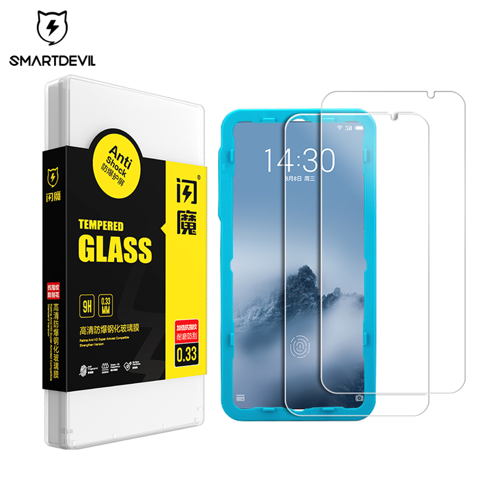 SmartDevil Screen Protector For Meizu 16 Th Plus 16X 16Spro Note 8 9 Tempered Glass Film Mobile Phone Toughened Anti-fingerprint