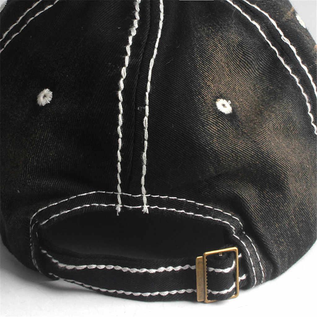 אופנה Demin בייסבול כובעי רקום נשים של היפ הופ חור מכתבי כובע לגברים אבא חיצוני כובע מתכוונן gorras יוניסקס