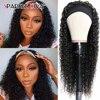 Brazilian Kinky Curly Human Hair Wig For Black Women 150%  Full Machine Made Wig Remy 360 Head Band Wigs Human Hair Wigs No Glue