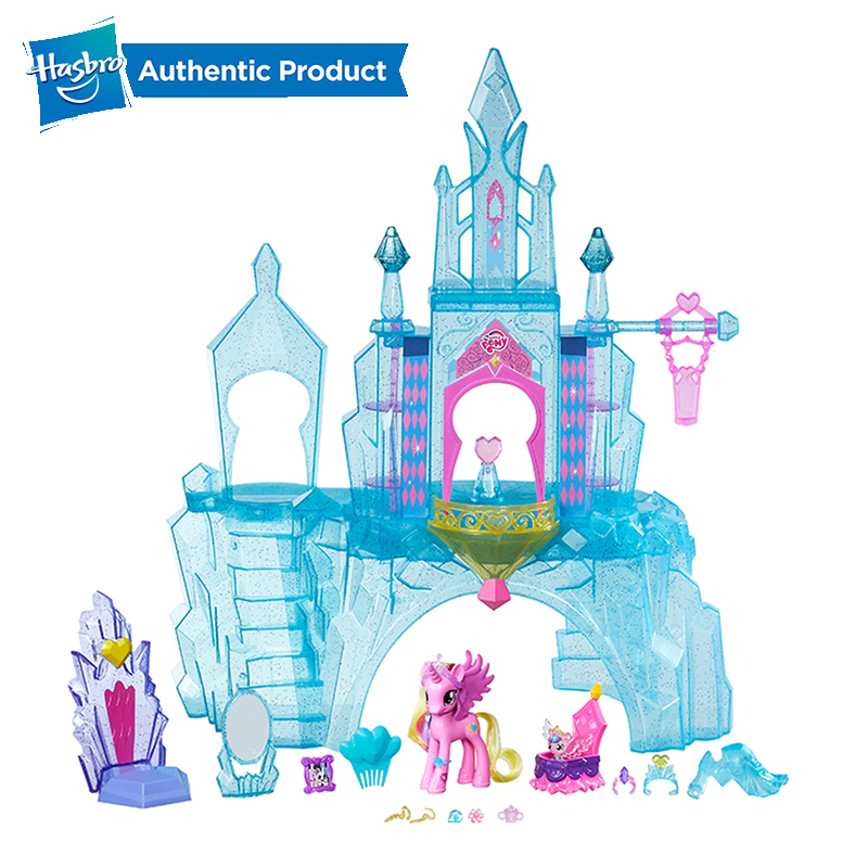 Hasbro My Little Pony Explore Equestria Crystal Empire Castle PVC Action Figure Collectible Model Doll Christmas Gift