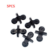 5pcs Plastic Aquarium Fish Tank Separating Glass Clamp Sucker Clip Divider Sheet Holder Clamp Partition Plate With Suction Cup(China)