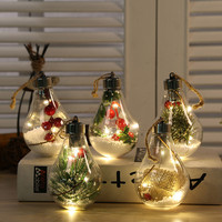 LED Decoration Light bulb Transparent Christmas Ball Festival Pendant Gift Hollow Ball Flash Outdoor Room Garden Decorations