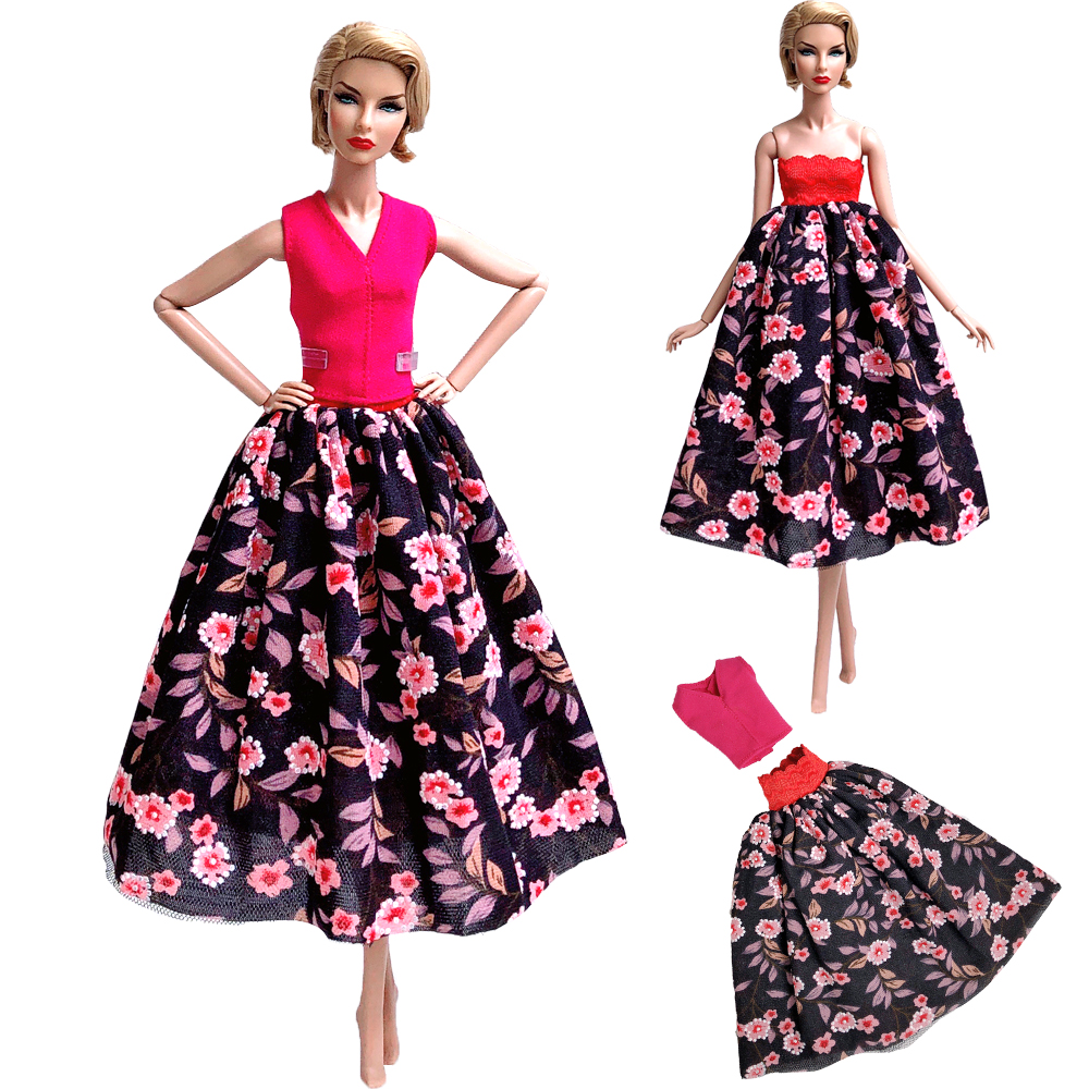 Nk 2020 Newest Doll Floral Variety Of Dresses Handmade Fashion Design Skirt For Barbie Doll Accessories Girls Gifts 115a 6x Dolls Accessories Aliexpress