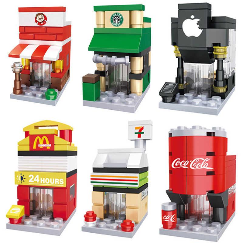 Nuovo legoed Mini Street View 6-1Building block Giocattoli Compatibile con Legoed Assembl FAI DA TE Educare Giocattoli Per I Bambini Regali Di Natale