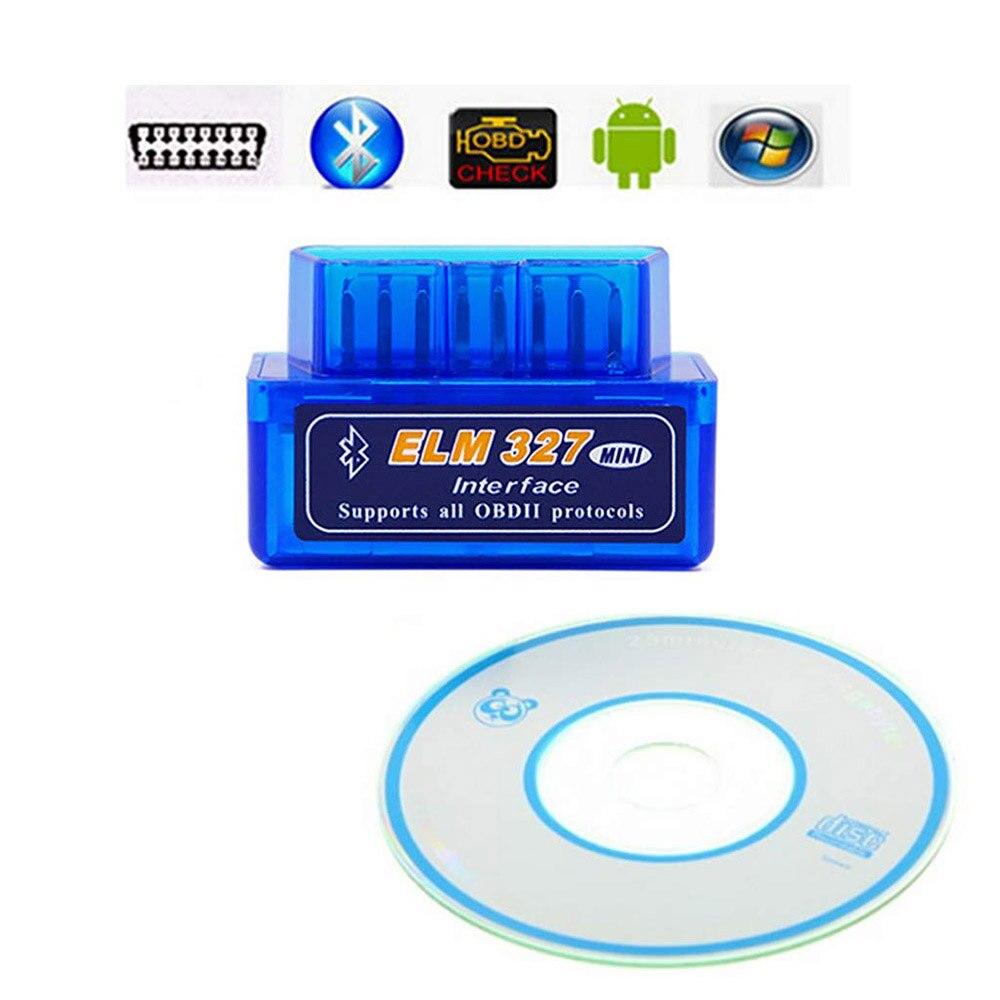 Universal Elm327 Bluetooth OBDII V2.1 Car Code Reader Scanner Adapter OBD2 Diagnostic Tool For Chevrolet Chrysler Ford Dodge
