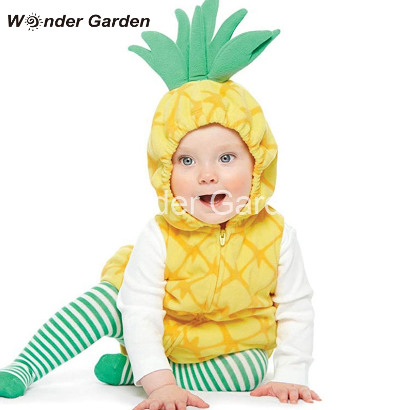 Wonder Garden New Toddler Newborn Baby Pineapple Strawberry Halloween Dress Up Costume Outfit
