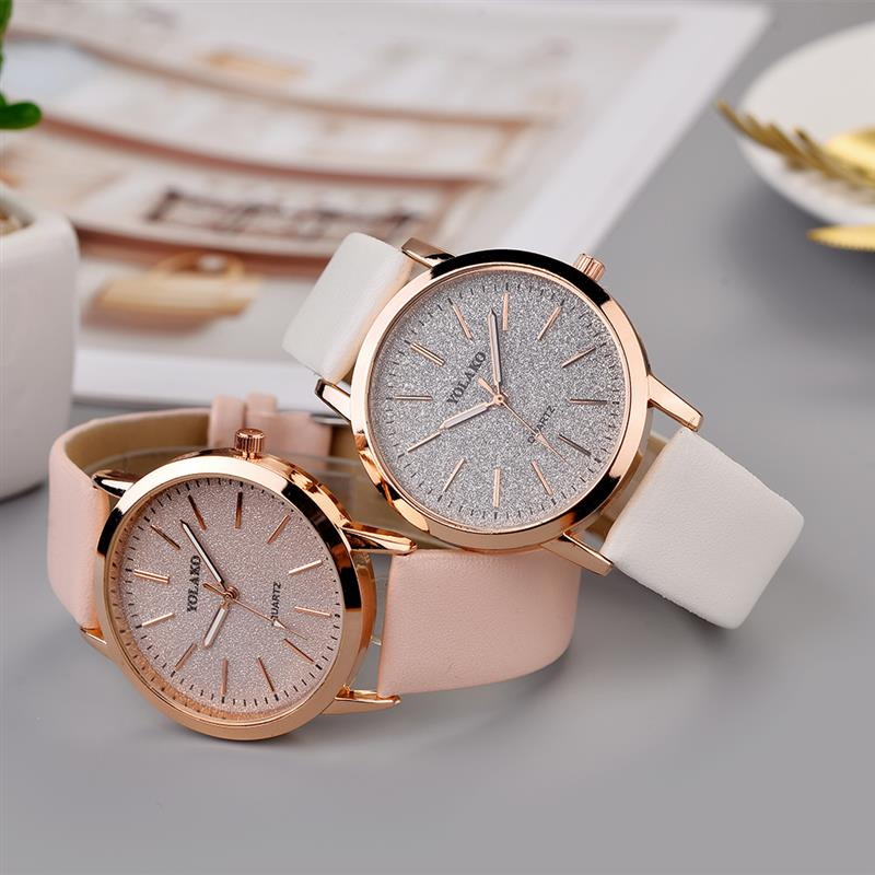 2020 Women Simple Watch Leather Band Casual Ladies Watches Fashion Minimalism Quartz Wristwatch Relogio Feminino Reloj Mujer